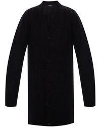 Ann Demeulemeester Rib-knit Cardigan Black