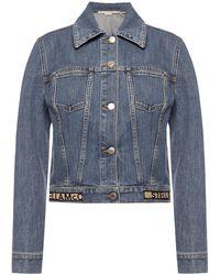 Stella McCartney Denim Jacket Navy Blue