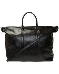 Saint Laurent Leather Holdall - Black