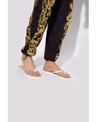 Versace Jeans Couture Flip-flops With Logo White