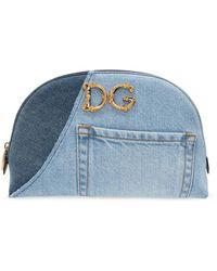 Dolce & Gabbana Denim Wash Bag - Blue