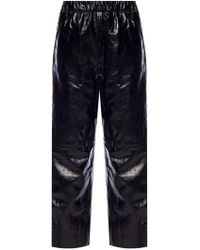 MM6 by Maison Martin Margiela - Leather Trousers - Lyst