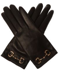 Gucci Leather Gloves - Black