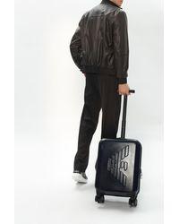 Emporio Armani Suitcase With Tactile Logo Navy Blue