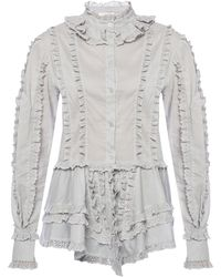 See By Chloé Ruffled Shirt - Gray