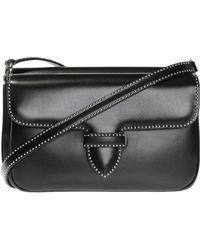 Alaïa 'bettina' Reversible Shoulder Bag - Black