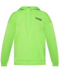Ganni Organic Cotton Hoodie - Green