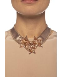 RED Valentino Embellished Necklace Beige - Natural