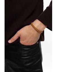 Bottega Veneta Woven Bracelet Brown