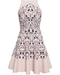 Alaïa Patterned Dress Cream - Multicolour