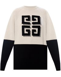 Givenchy Cashmere Jumper With Logo Grey