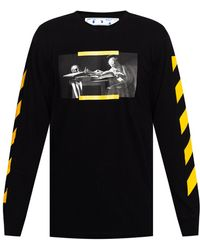 Off-White c/o Virgil Abloh T-shirt With Long Sleeves - Black