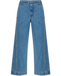 Lanvin High-waisted Jeans - Blue