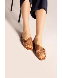Jimmy Choo 'narisa' Leather Slides Brown