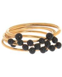 Isabel Marant Set Of 5 Rings Gold - Metallic