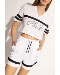 Fila Cropped T-shirt With Logo - White