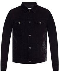 Givenchy Denim Jacket With Logo Black