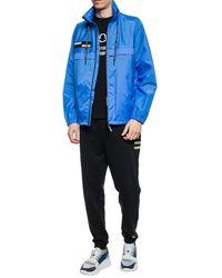 Moncler Genius 7 Fragment Hiroshi Fujiwara Blue Nylon Patch Jacket