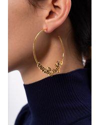 Marc Jacobs New York Magazine® X The Logo Hoop Earrings - Metallic