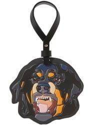 Givenchy Rottweiler Head Key Ring - Black