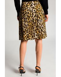 Moschino Leopard-printed Skirt - Natural
