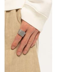 Maison Margiela Set Of Two Silver Rings Silver - Metallic