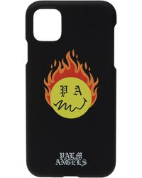 Palm Angels Branded Iphone 11 Case Unisex Black