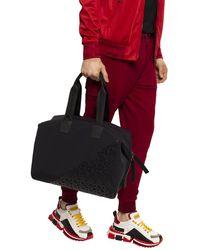 Dolce & Gabbana Millennials Logo Bag In Neoprene With Rubberized Dg - Black