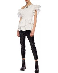 Junya Watanabe Holographic Trousers Black
