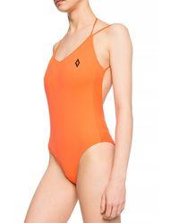 Marcelo Burlon One-piece Swimsuit Orange