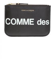 Comme des Garçons - Logo-printed Pouch Unisex Black - Lyst
