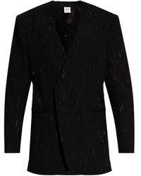 Vetements Ribbed Blazer - Black