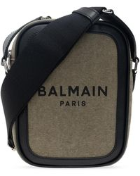 Balmain Shoulder Bag With Logo Green