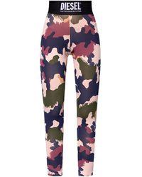 DIESEL High-waisted Leggings - Multicolour
