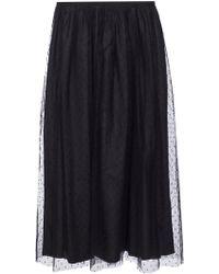 RED Valentino Tulle Skirt - Black
