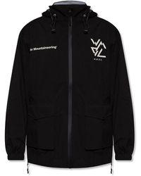 White Mountaineering Jacket With Logo - Black