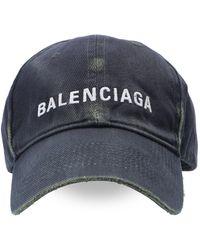 Balenciaga Embroidered Baseball Cap - Grey
