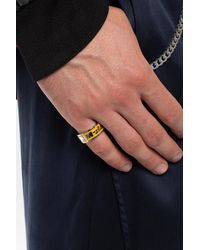 Off-White c/o Virgil Abloh Ring With Logo Yellow