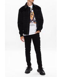 Emporio Armani Tapered Leg Jeans Black