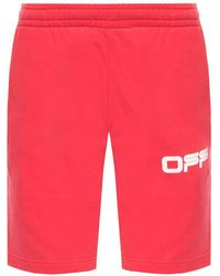 Off-White c/o Virgil Abloh Shorts With Logo Red