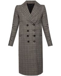 AllSaints 'blair' Double-breasted Coat Grey