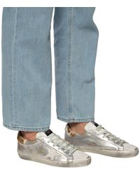 Golden Goose Deluxe Brand 'superstar' Distressed Trainers Silver - Metallic