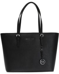 Michael Kors 'jet Set Travel' Shopper Bag - Black