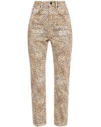 Alexander Wang Leopard-printed Jeans - Natural