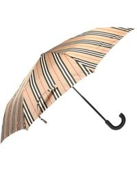 Burberry Patterned Umbrella - Natural