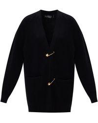 Versace Safety Pin Cardigan Black