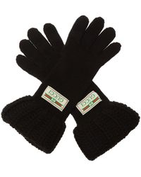 Gucci Woven Gloves - Black