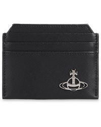 Vivienne Westwood Card Holder With Logo Black