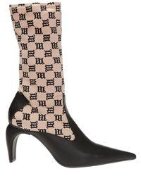 MISBHV 'slicer' Heeled Ankle Boots - Natural