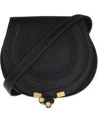 Chloé Marcie Mini Textured Leather Shoulder Bag - Black
